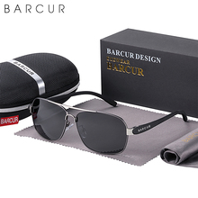 BARCUR Polarized Men Sun Glasses For Driving Durable Sunglasses Eyewear UV400 Gafas Oculos De Sol