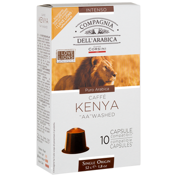 "Coffee capsules Nespresso®Compagnia dell'arabica Kenya ""AA"" washed 52g (10x5.2g)"