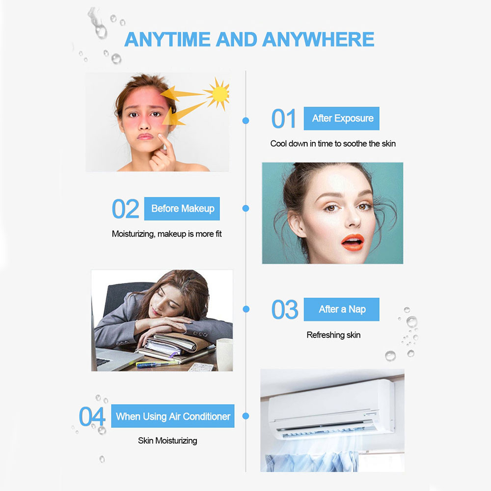 Nano facial vapor + poros cleaner removedor