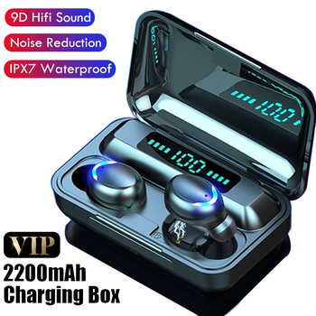 Best Wireless Bluetooth Earphone for iPhone Wireless Headphones TWS Stereo Earbuds Waterproof Noise Cancelling Headset with Mic