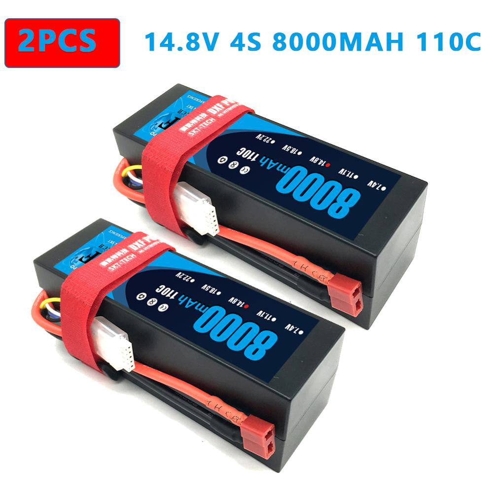 DXF <font><b>Lipo</b></font> Battery 2s <font><b>4S</b></font> HardCase 7.4V 14.8V 6500mAh <font><b>8000mah</b></font> 60C 110C 100C 200C AKKU for 1:8 1:10 RC Car E Buggy Truggy Truck image