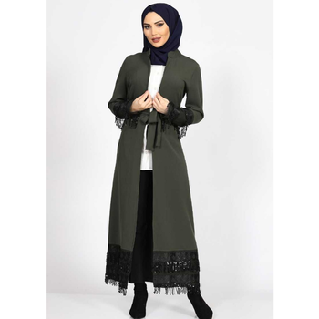 Muslim Clothing Abaya Turkish clothes for women autumn Garment Hijab Moroccan tagine Robe Women's Long Dress 3abaya European image
