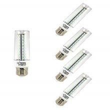Lámpara Bombilla LED de Maíz 12 W, Luz Cálida 3000, 1020 Lúmenes, Reemplazo de 100W Hálogena Bombilla (5-Unidades) 43809