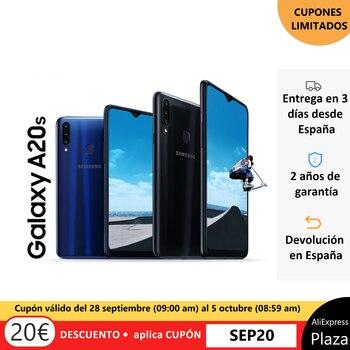 Перейти на Алиэкспресс и купить Samsung Galaxy A20s, оригинальный мобильный телефон, смартфон 3 ГБ + 32 ГБ, дисплей infinit-V, тройная камера 13 МП, 1.8GH, 4000 мАч