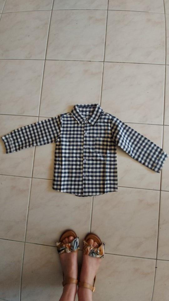 2020 Fall Kids Boy Clothes Set 3 Pieces Suits Coat plaid T-shirt Jeans Children little casual boys clothing sets 2-8 Years photo review