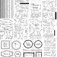 Christmas dog Transparent Clear Silicone Stamps for DIY Scrapbooking/Card Making/Kids Christmas Fun Decoration Supplies A3019