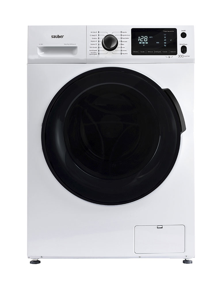 Washing Machine Tumble Dryer Sauber Ls861 8/6Kg 1600 Rpm TO White