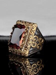 Zultanite Ring 925 Silver Handmade Mens Man Rectangular
