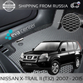 Car Mats EVA for Nissan X-Trail II (2) t32 2007-2015 set of 4x mats and jumper/Eva mats car