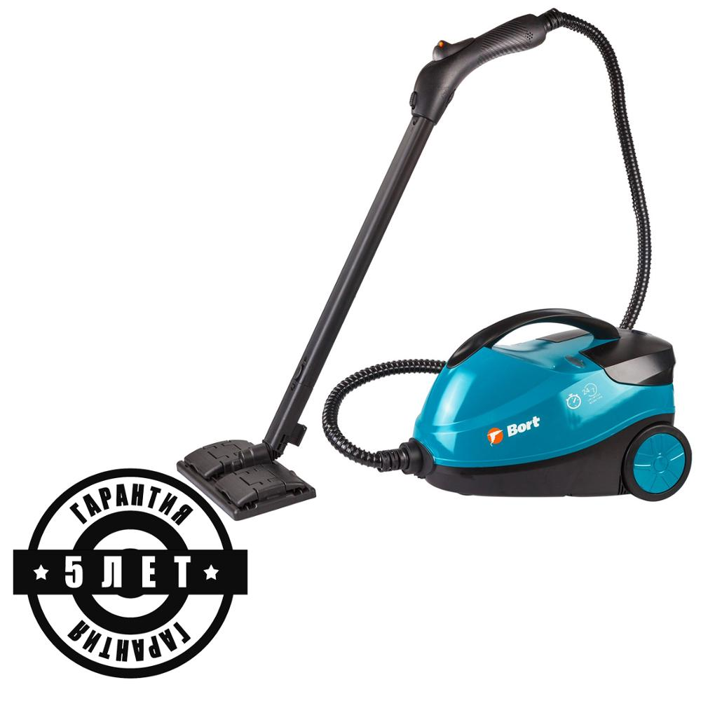 Steam cleaner Bort BDR-2300-R (Power 2100 W, wide set of nozzles, steaming clothes)
