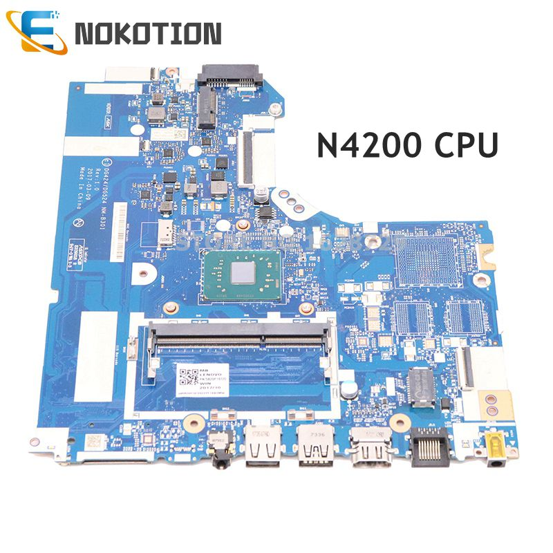NOKOTION For <font><b>Lenovo</b></font> <font><b>ideapad</b></font> <font><b>320</b></font>-14IAP laptop <font><b>motherboard</b></font> DG424 DG524 NM-B301 5B20P19720 14 inch SR2Z5 N4200 CPU DDR4 image