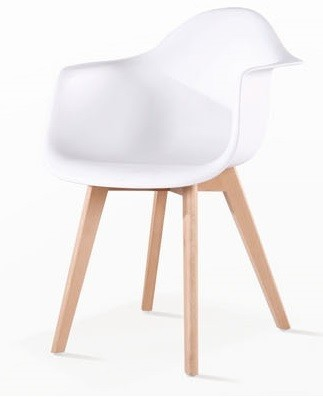 Armchair TOWER 4 P, Wood, White Polypropylene