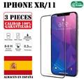 IPhone 11 XR 3 шт набор полное закаленное стекло Защита экрана Ультра тонкая защита от царапин