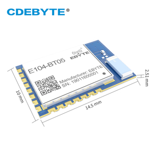 Image 2 - TLSR8266 Bluetooth BLE4.2 UART SMD Transceiver E104 BT05 70m Slave Transparent Transmission Low Power Wireless Module