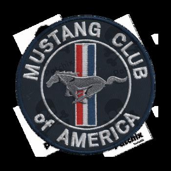 Mustang Parche Bordado, Sắt Vá, Gestickter Vá, Vá Brode, Remendo Bordado, Toppa Ricamata