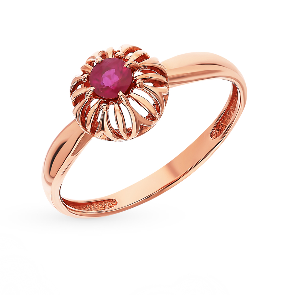 Gold Ring With Rubies Sunlight Sample 585