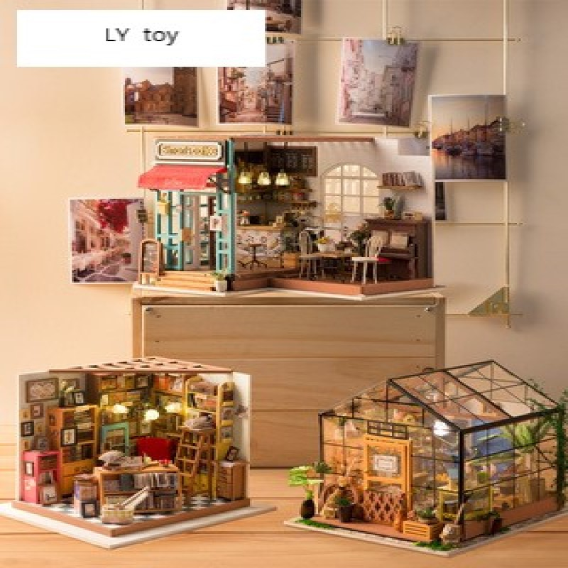 3D Three-Dimensional Puzzle Assembling Model Handmade DIY House Birthday Gift Girl Creative Kathy Flower