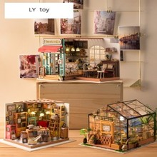 купить 3D Three-Dimensional Puzzle Assembling Model Handmade DIY House Birthday Gift Girl Creative Kathy Flower House дешево