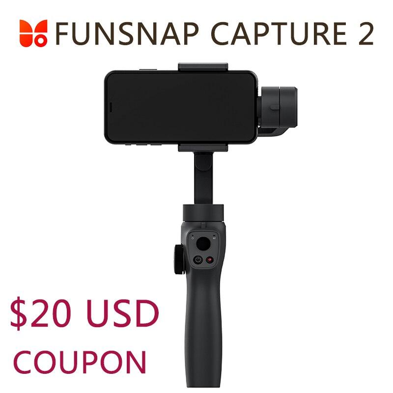 Funsnap Capture 2 stabilisateur de cardan portable pour Smartphone GoPro 7 XiaoYi 4k caméra d'action pas DJI OSMO 2 ZHIYUN FEIYUTECH
