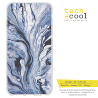 FunnyTech®Silicone Case for Huawei Honor 9 Lite l texture lines Blue
