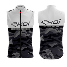 цена на EKOI men riding gilet Bicycle windproof vest white sleeveless quick-drying cycling team custom vest roupa ciclismo maillot