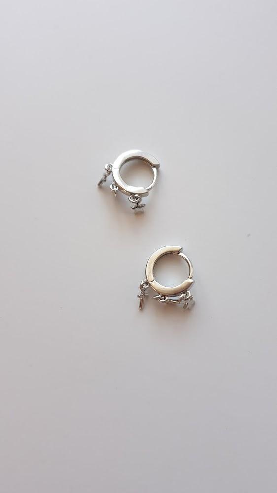 KOFSAC Cute Women Earrings Star Moon Cross Tassel Jewelry New Trendy 925 Sterling Silver Earring Lady Gifts Party Accessories photo review