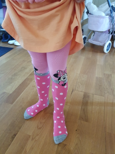 Disney Tights for Girls Cute Pink Mickey Mouse Cartoon Pantyhose Girls Cotton Children Tights Stockings Pantyhose Baby Girl photo review