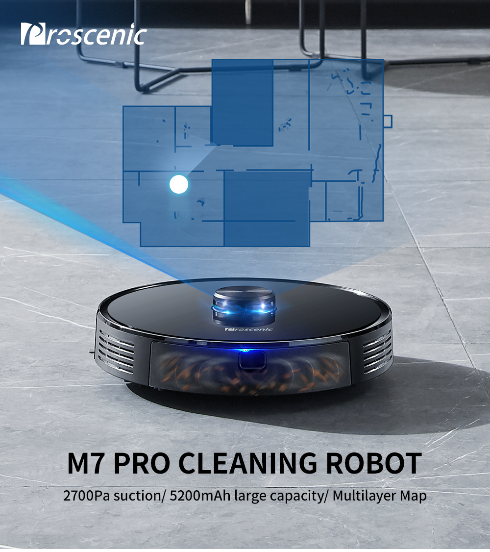 Proscenic m7pro varredor de navegação a laser