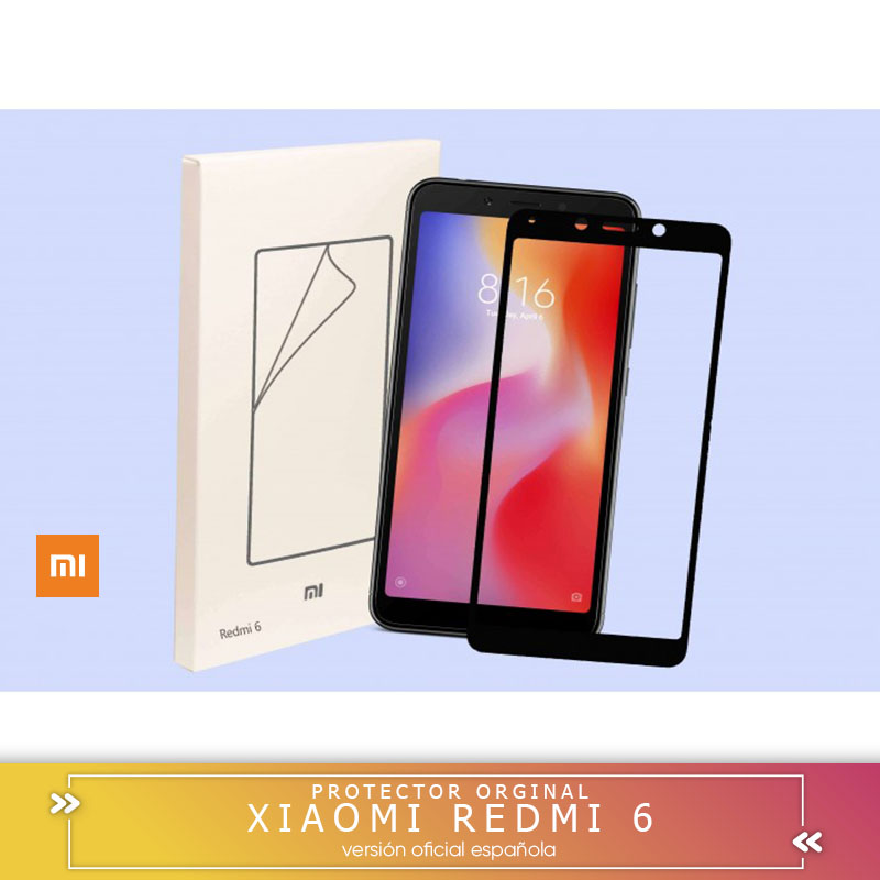 Square official Tempered glass LCD cover SCREEN protector for Xiaomi redmi 6  redmi 6A with edge 2.5D 9H SCREEN protector|Phone Screen Protectors| |  - title=