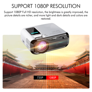 Image 3 - New UNIC E500 150 Inch 1280x720P 6000 Lumens LCD Projector 1080P Full HD HDMI WIFI Home Theater Android Proyector LED PK CP600