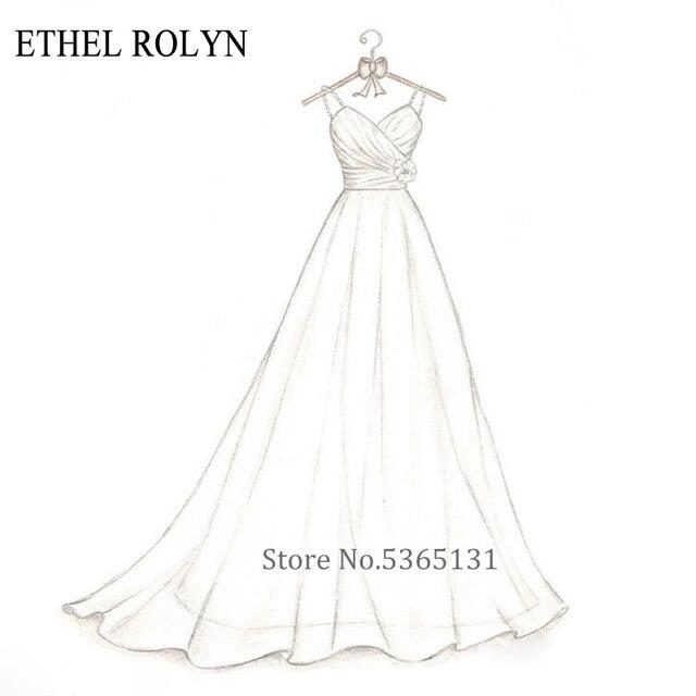 ETHEL ROLYN personnalisation personnalisée robe De mariée 2020 taille personnalisée robe De mariée robes De mariée africaine Vestido De Noiva
