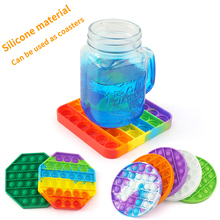 10pc silicone push pop bubble sensory fidget toy stress rainbow pop it fidget toys push animals bubble gliter pop it fidget pad