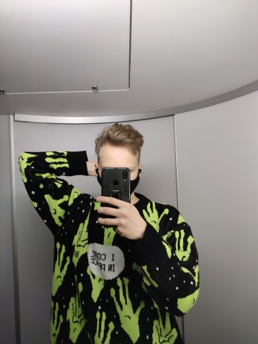 Alien Knitted Sweater E-girl photo review
