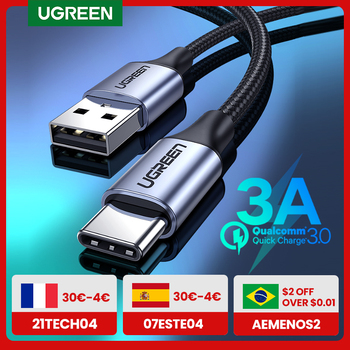 UGREEN USB C Cable for Xiaomi Redmi Note 10 USB Type C 3A Fast Phone Charging Cord for Huawei P40 Pro Type C Charger Cable USB C 1