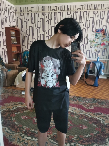 2021new gothic T-shirts Harajuku Anime Print Y2k Tops Aesthetic Vintage Femme T-shirts Korean Style Oversized Women's T-shirts photo review