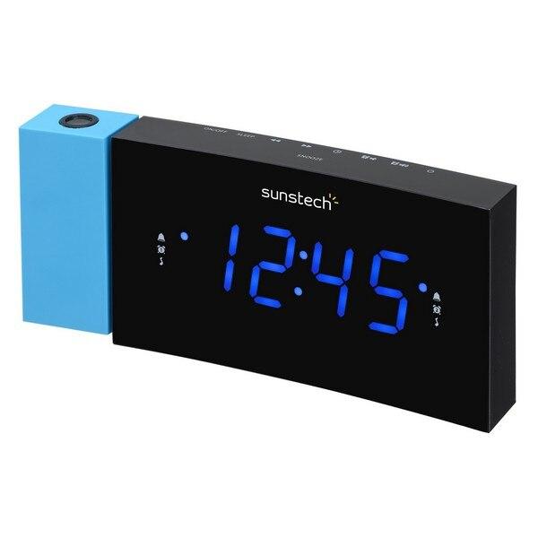 """Часы-радио Sunstech 1,2 """"светодиодный черный синий"""