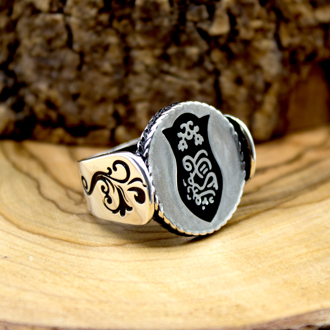 925 Sterling Silver Ring for Men Without Stone Aqeq Onyx Stone Jewelry fashion vintage Gift Rings All Size Made in turkey