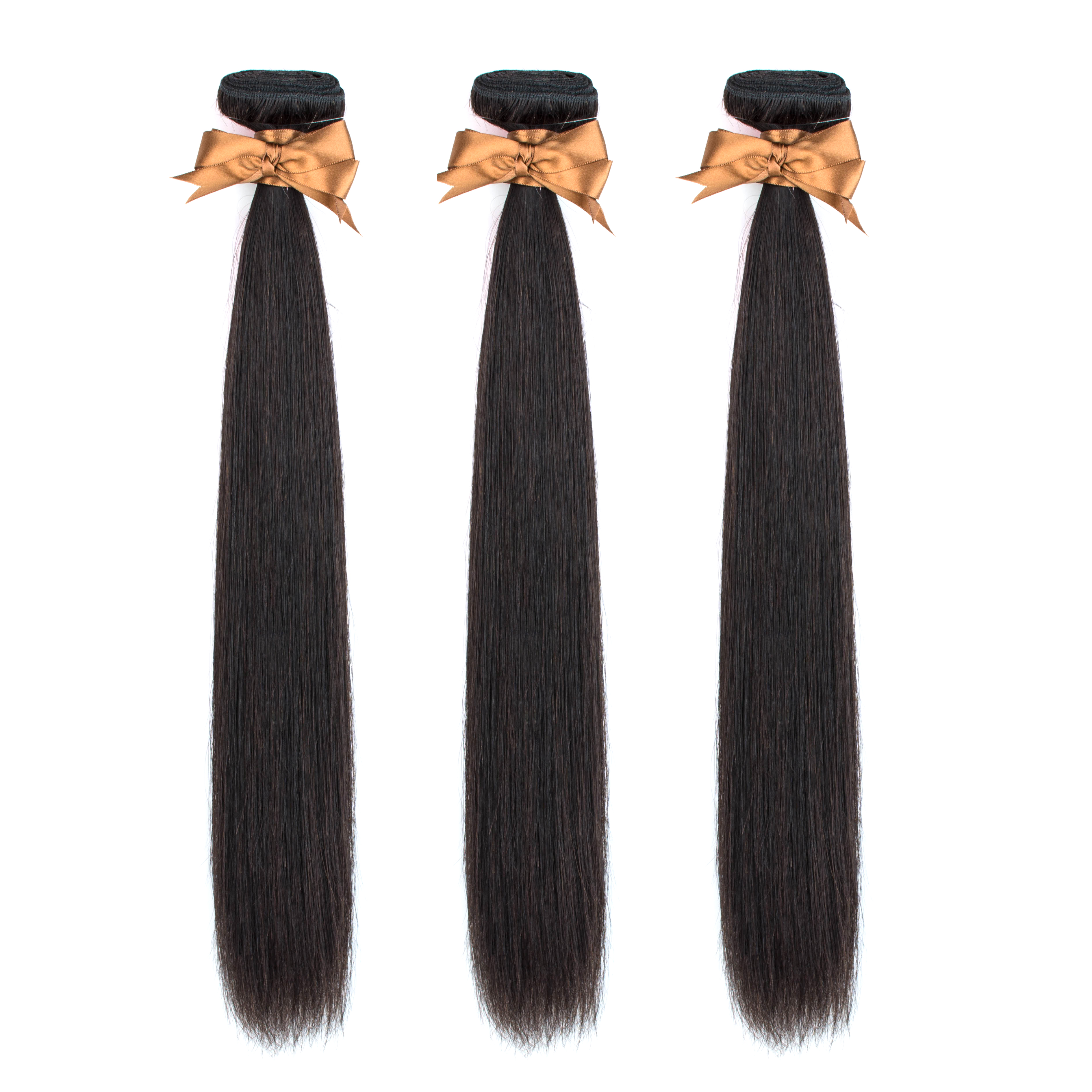 Beaudiva Straight Hair 3 Bundles Brazilian Hair Weave Bundles 100% Human Hair Bundles Remy Hair Weave 3 Pieces