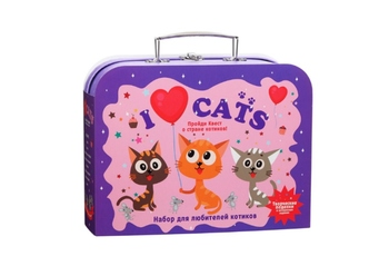 Set for creativity I love seals gift in a suitcase tr-114