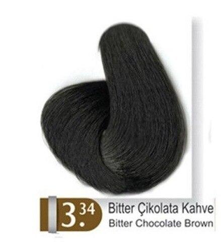 Tintura de Cabelo Escuro de Café de Chocolate Akos 3.34 410590178