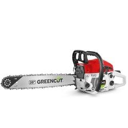 Motosierra gasolina GREENCUT 61,2cc y 3,6cv y espada de 20'', Sistema Anti-Vibración, motosierra tala y poda ligera y potente