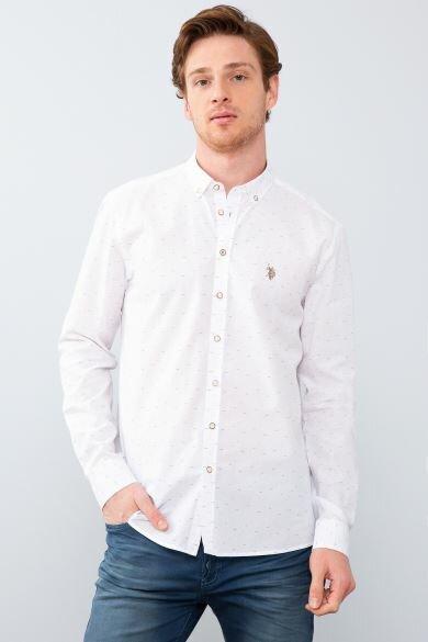 U.S. POLO ASSN. Taba Printed Slim Shirt