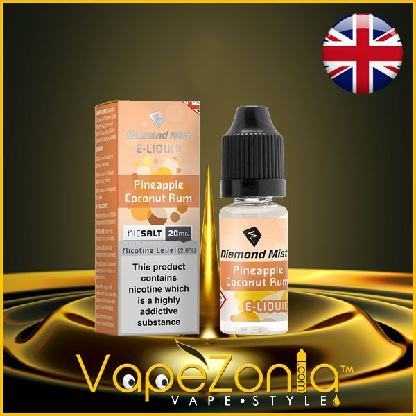Diamond Mist Nic Salt PINEAPPLE COCONUT RUM 20 Mg - 10 Ml
