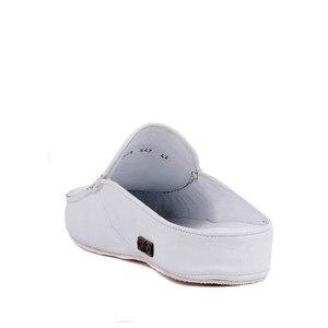 Image 4 - Sail Lakers/мужские тапочки на резиновой подошве из натуральной кожи; Тапочки на плоской подошве; Модные роскошные Лоферы без застежки; zapatos de mujer; женская обувь