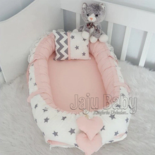 Jaju Baby 100X60 White Star Powder Combination Luxury Babynest Maternal bed