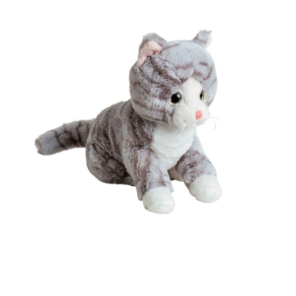 Мягкая игрушка Кот серый 20 см