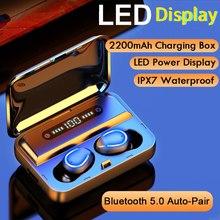 Wireless Bluetooth Earphones LED Display Wireless Headphones Hifi Wireless Earbuds Bluetooth 5.0 Spo