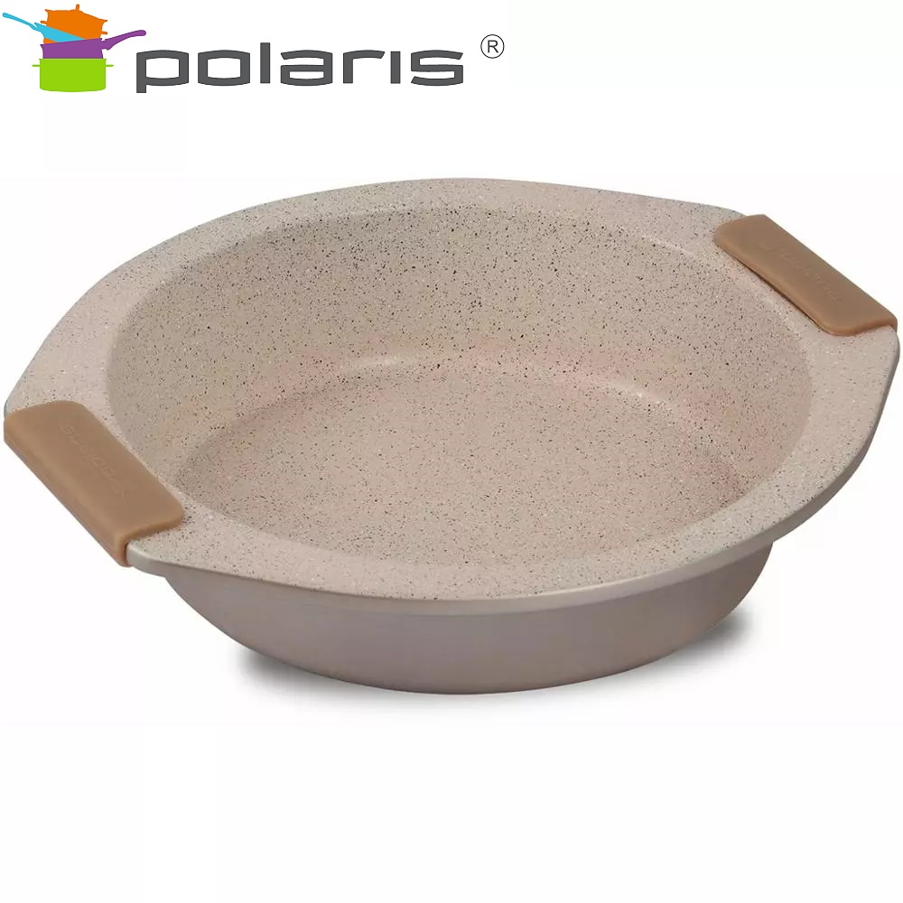 Baking dish round Polaris Stone-23R kitchen baking все цены