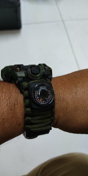 Relógio Tático Adventure Watch com 8 funções de Sobrevivência photo review