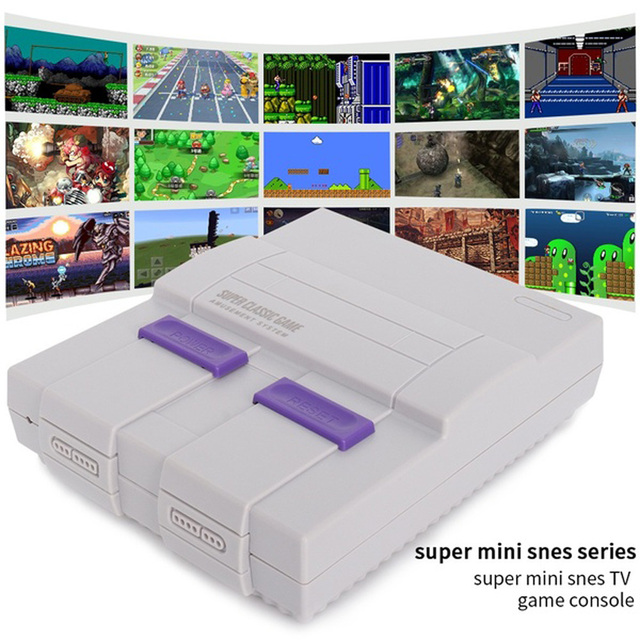 MINI SNES NES Video Game Console Retro 821 Games in 1 TF Card TV Game Box with wii Consoles SEGA Av Line Consolas de Videojuegos Video Game Consoles    -